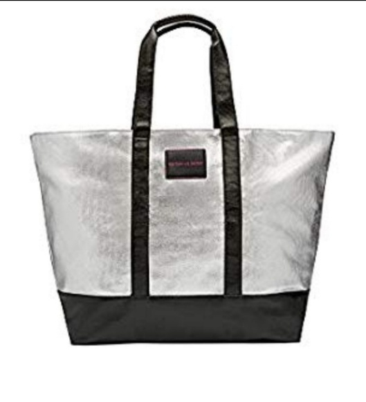 Victoria's Secret Handbags - Victoria's Secret Silver Tote Bag